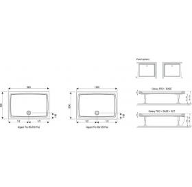 Поддон для душевых кабин Ravak GIGANT PRO Flat 120x80, прямоугольный, литой мрамор, XA03G411010