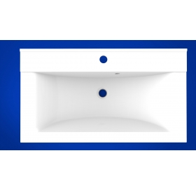 Умывальник мебельный 2BI Gloria 100, белый, прямоугольный, 2.bi.10000.00