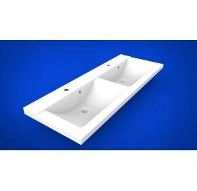 Умывальник мебельный 2BI Double 120, белый, прямоугольный, 2.bi.12000.00