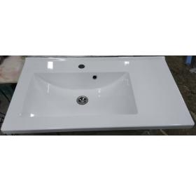 Умывальник мебельный 2BI Techno 80, белый, прямоугольный, 2.bi.8000.00