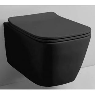 Rostriks Uno Corta Black matte унитаз безободковый с сидением дюропласт soft-close