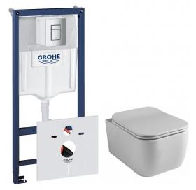 Комплект: Инсталляционная система Grohe Rapid SL + подвесной унитаз Rostriks CUATRO