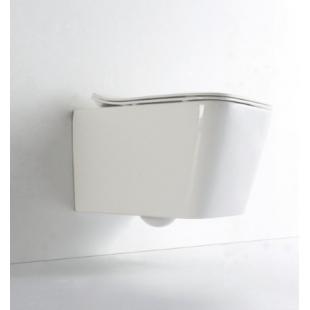 Rostriks UNO унитаз подвесной безободковый с сидением дюропласт soft-close