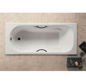 Ванна чугунная Roca MALIBU 170 x 75 с ручками, без ножек (23097000R)