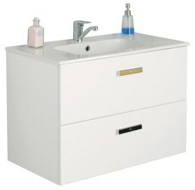 Комплект: раковина мебельная Roca VICTORIA 80 см с отверстием + тумба VICTORIA, белая
