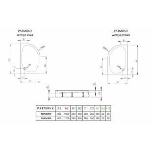 Душевой поддон RADAWAY Patmos E, 100x80, 4P81155-03L