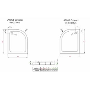 Душевой поддон RADAWAY Laros E, 100x80 левый, SLE81017-01L
