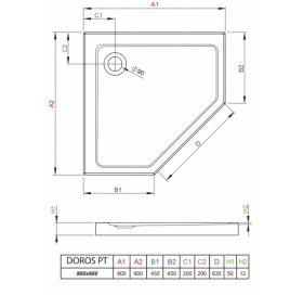 Душевой поддон RADAWAY Doros PT, 90x90, SDRPT9090-01