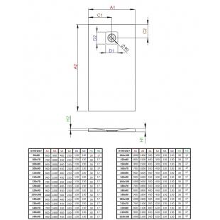 Душевой поддон RADAWAY Kyntos F Anthracite, 90x80, HKF9080-64