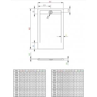 Душевой поддон RADAWAY Teos F Anthracite, 100x80, HTF10080-64