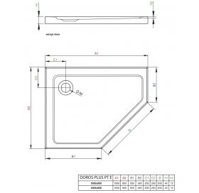 Душевой поддон RADAWAY Doros Plus PT E 100x80 левый, SDRPTP1080-01L