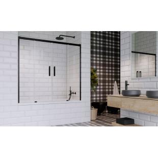 Шторка для ванны RADAWAY Idea Black PN DWD 140,  10004140-54-01