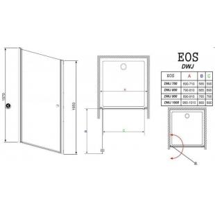 Душевая дверь RADAWAY Eos DWJ 70, 37983-01-01N