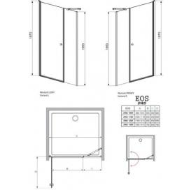 Душевая дверь RADAWAY Eos DWS 140, 37993-01-01NR