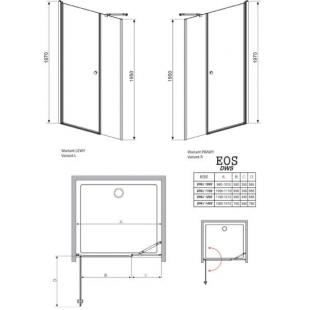 Душевая дверь RADAWAY Eos DWS 120, 37992-01-01NL