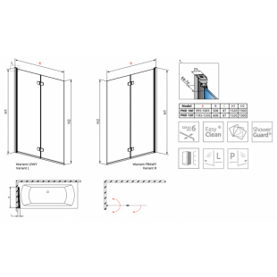 Шторка для ванны RADAWAY Fuenta New PND 100,  208210-01R