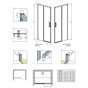 Душевая дверь RADAWAY Idea Black DWJ 100, 387014-54-01L