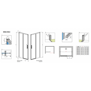 Душевая дверь RADAWAY Idea DWJ 130, 387017-01-01L