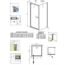Душевая дверь RADAWAY Twist DW 90, 382002-01