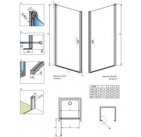 Душевая дверь RADAWAY Nes DWJ I 70 правая, 10026070-01-01R