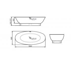Ванна Rock Design Гармония 182 х 90 1G182090