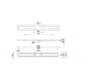 Душевой канал STYRON STY-B-100 с полированной решеткой 1000 мм Бейсик с сухим сифоном