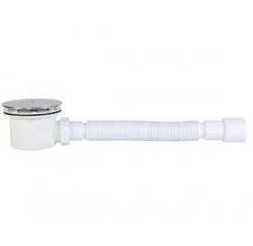 Сифон STYRON STY-401-KJ душевого поддона  Ø90 мм с гидрозатвором хромированный + гибкая труба очищае