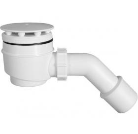 Сифон STYRON STY-402-F душевого поддона Ø50 мм c гидрозатвором, очищаемый, белый