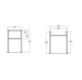 Хромированные стойки для раковин Simas Frozen, FZ/DUCG1