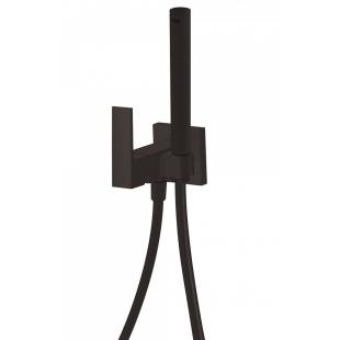 Комплект гигиенического душа TRES Cuadro Colors, чёрный матовый, 00612301NM