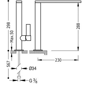 Кухонный смеситель TRES Class-Tres, 20548601NM