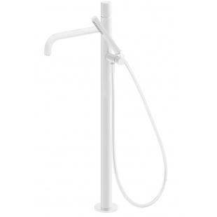 Напольный смеситель для отдельностоящей ванны TRES Study Colors, белый матовый, 26247002BM
