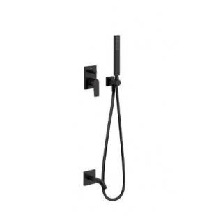 Смеситель для ванны с душевым гарнитуром и изливом, Tres Project Colors, черный матовый, 21118003NM