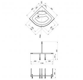 Душевая кабина Triton Риф Б1 90/90/45 в комплекте с  полу-автоматическим сифоном