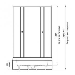 Душевая кабина Triton Риф В1 на среднем поддоне  90/90/30 в комплекте с сифоном