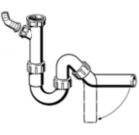 Сифон трубный VIEGA для мойки / раковины, 1,1/4x50, пластик