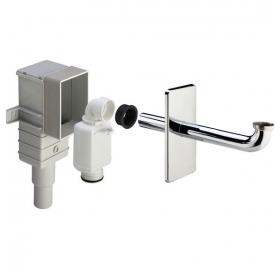 Сифон для раковины консольного типа VIEGA горизонтальный, 1/4x50/40, пластик/хро..
