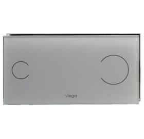 Кнопка сливная VIEGA Visign for Style 100, серое стекло