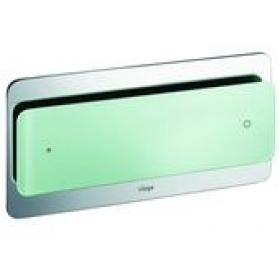 Кнопка сливная VIEGA Visign for Style 102, зелёная мята, прозрачная