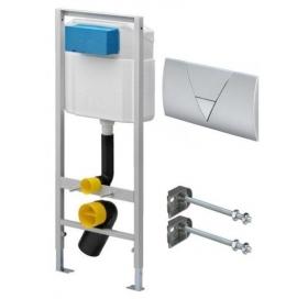 Инсталляционный модуль для унитаза VIEGA ECO Standart с кнопкой (406912) и крепл..