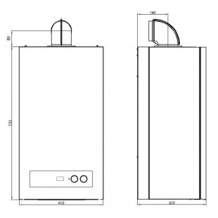 Котел газовый Airfel DigiFEL DUO 28 кВт (AIRFELDIGIFELDUO28)