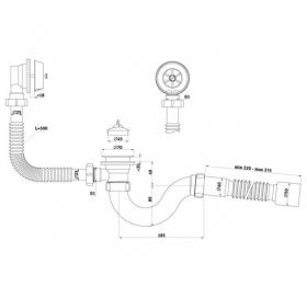 Сифон для ванны Ани Пласт C6155