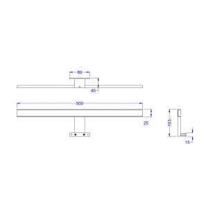 Подсветка LED AQUA RODOS Gama LUX 7,0 W хром, АР0002309