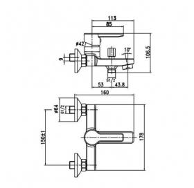 Смеситель для ванны Aqua Rodos, HC0000203
