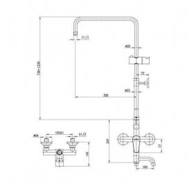 Душевая система Aqua Rodos Optima, АР0000328
