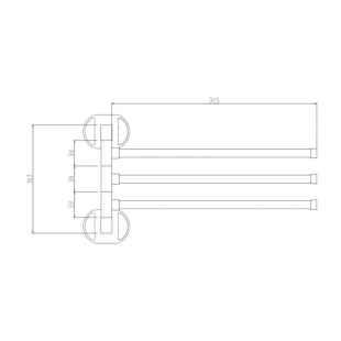 Полотенцедержатель тройной поворотный Cosh (CRM)S-80-904-3