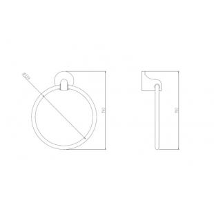 Кольцо для полотенца Cosh (CRM)S-80-907