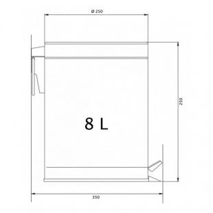 Ведро для мусора Cosh (CRM)S-82-102-8, 8 л