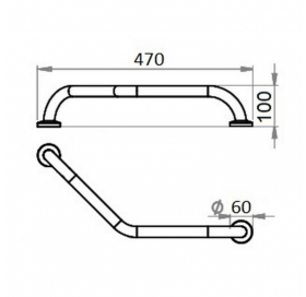 Поручень для ванны Cosh (CRM)S-82-104