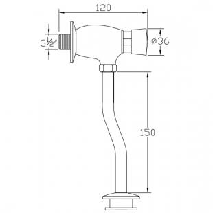 Сливной механизм для уринала Devit 11822 хром